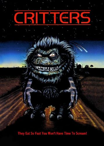 1980's Movie - CRITTERS ART canvas print - self adhesive poster - photo print